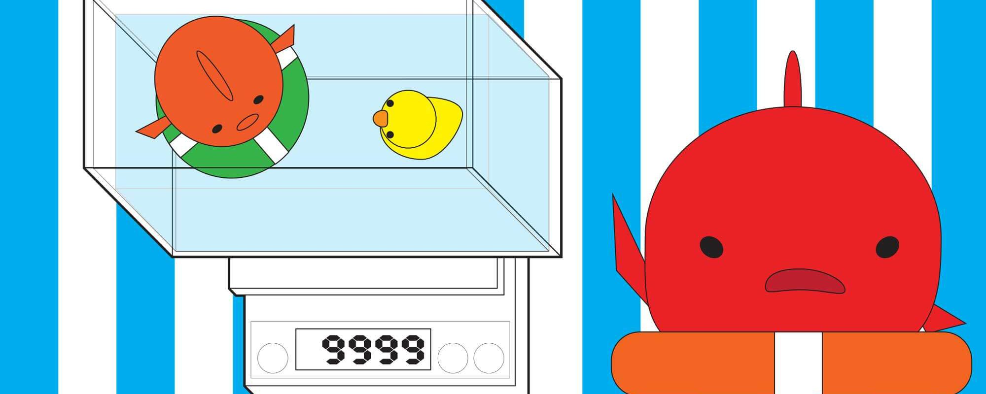 金魚の体重測定の方法